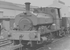 """Andrew, Barclay, Sons & Co.Ltd. 0-4-0ST, Works No.2198/1945. """"V E DAY"""""""
