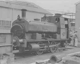 """Andrew, Barclay, Sons & Co.Ltd. 0-4-0ST, Works No.2199/1945. """"VICTORY"""""""